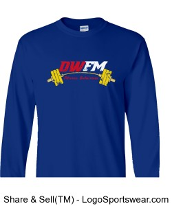 DWFM Heavyweight Ultra Cotton Long Sleeve Adult T-Shirt Design Zoom